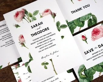 Wedding Stationery Printables - Vintage Roses