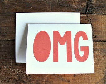 OMG - Greeting Card