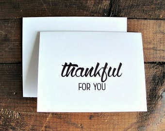 Thankful for You - Thank You Greeting Card