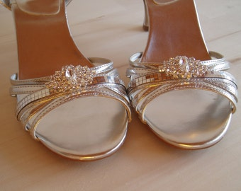 Deco Rhinestone Wedding Shoe Clips bridal shoeclips crystal shoes bling