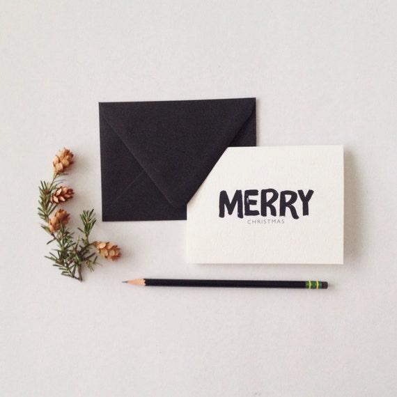 Paint Brush joyeux Noël cartes de correspondance