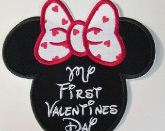 My First Valentines Day - Iron On Applique for Girls First Valentine