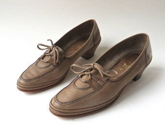 70s vintage Amalfi by Rangoni Mocha Leather Loafers / Made in Italy