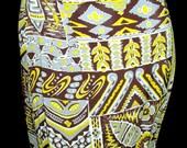 Fantastic 1940s Silky Rayon Hawaiian print Skirt-M/L