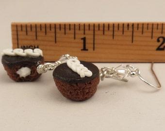 Miniature Food Hostess Chocolate Cupcake Earrings