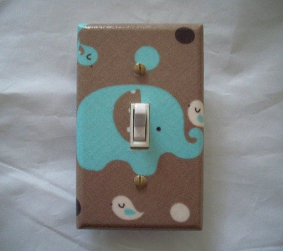 Safari Elephant Animal Light Switch Cover By
