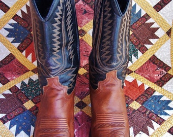 Cowboy Boots, Leather Boots, Western Boots, Cowgirl boot 9, Cowboy Boot 8