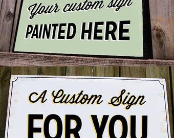 Custom Handpainted Sign