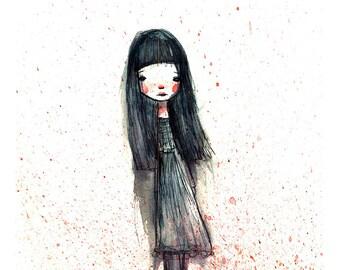 5x7 Art Print 'Sadie' - Fine art print or watercolor illustration -  Artwork by Jessica von Braun