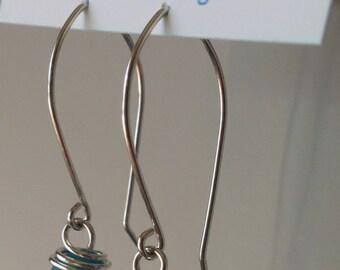 TEAL modern DROP  Earrings
