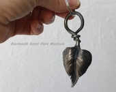 Leaf Key chain, key chain, Unique key chain, iron anniversary, steel anniversary, 6th anniversary gift, leaf charm jewelry