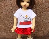 T-shirt and skirt for 1/6 bjd / YOSD