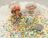 Glitter - 2mm Bright Neon Blue Tiny Matte Glitter Flakes - Mix Loose Glitter, Paliette or Sequins - Solvent Resistant - Set of Two 3g Jars