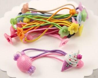 Hair Elastics - 85mm Fun DIY Blank Elastic Hair Bands - Make your own Cute Hair Ties - 20 pc set