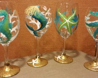 Coastal Wine Glasses