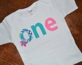 Custom Listing for Lynn -- Girls 1st Birthday Shirt with the ONE design on a 18 month white tank top