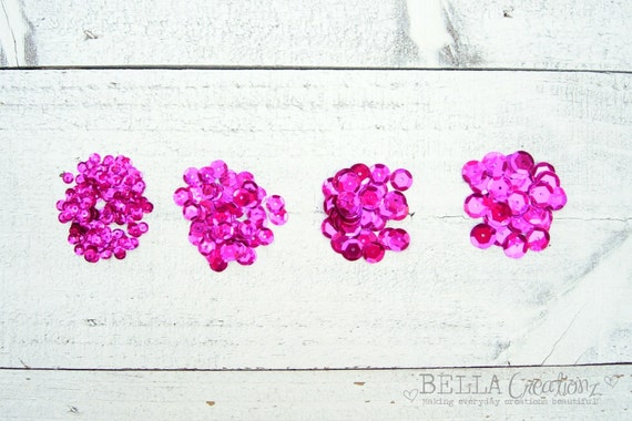 Raspberry Pink Mix Sequins -  Fuschia Sequins
