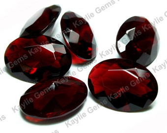 Vampire Blood - 18x13 Oval Glass Jewel Pointed Back Unfoiled For Open Back Settings BR112 - 2pcs