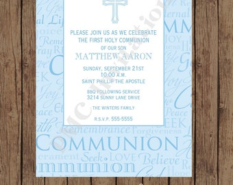 Custom Printed First Communion Invitations - 1.00 each with envelope