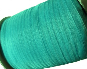 """Turquoise Organza Ribbon 1/4"""" for gift packaging or crafting - 10 yards (30 feets)"""