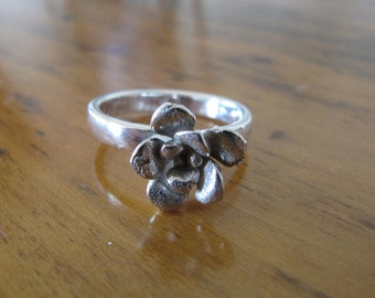 Sterling Silver Ring with Hand Cast Sedum