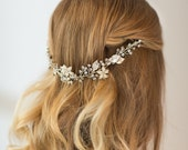 Wedding Hair Vine,  Floral Hair Vine, Bridal Hair Accessory