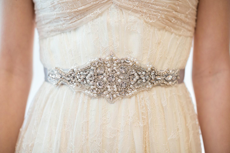 Bridal Gown Sash Wedding Dress Sash Rhinestone Beaded Sash
