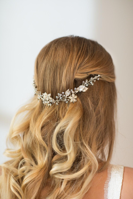 Wedding Hair Vine Flower Hair Vine Bridal Hairpiece Pearl