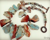 Slab stone statement necklace, featured in Belle Armoire Jewelry