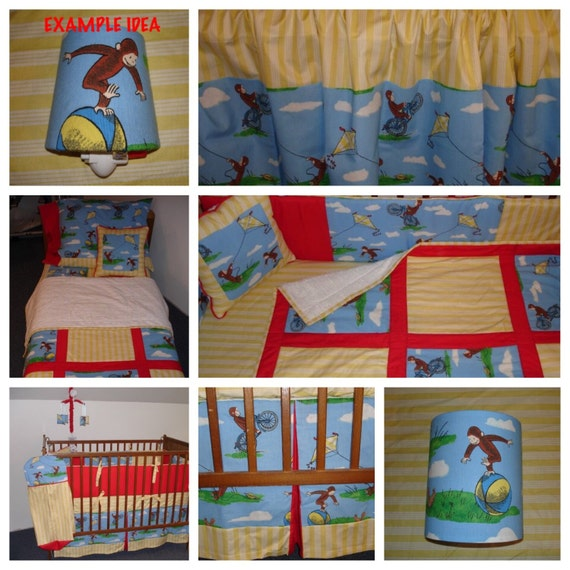 Curious george toddler bedding 28 images custom crib for Curious george bedroom ideas