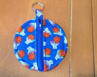 Basketball ear bud/coin pouch