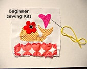 Kids Sewing Kit Whimsy Whale Sewing Kit Sew a Pillow Sew a Wall Hanging 8.5x8 Beginner Sewng Kit Kids Sewing Kit