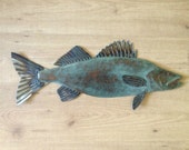Walleye metal fish Art wall sculpture Lake Cabin Cottage