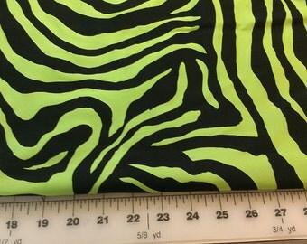 Zebra Animal Print Spandex 1-1/4yd
