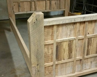 YOUR Made to Order Barn Wood Multi Panel Bed FREE SHIPPING - BWB16F