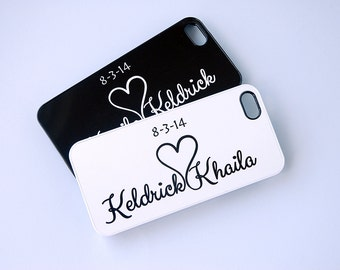 Personalized Phone Case, Couples Matching Phone Cases, iPhone 5, iPhone 6 Case, 6 Plus Case