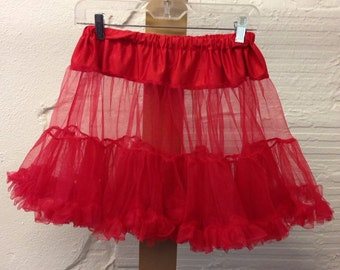Red Crinoline Vintage Petticoat Short
