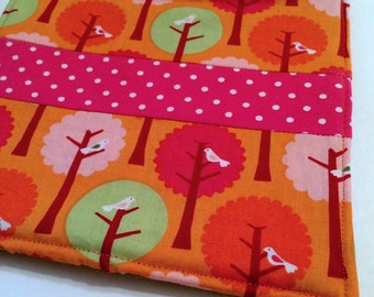 Orange Birds in Trees Pot Holder