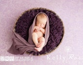 LaRgE Plumberry Purple Sheep Faux Flokati Fur, Newborn Photography Props, Newborn Photo Props, Baby Photo Props, Furs, Floor, Backdrop, Girl