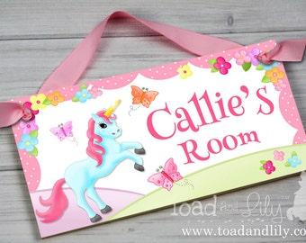 Girls Bedroom Baby Nursery Unicorn DOOR SIGN DS0029