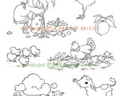 On The Farm Clear Polymer Stamp Collection