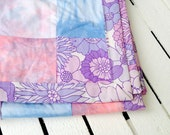 Hand dyed patchwork quilt