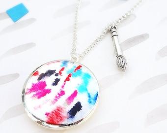 Artist Locket Necklace  - Silver