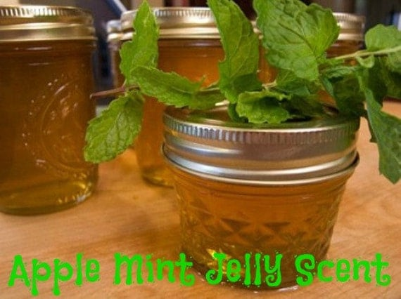 APPLE MiNT JELLY Scented Soy Wax Melts - Soy Tarts - Flameless Wickless Soy Candle - Highly Scented - Hand Poured - Handmade In USA