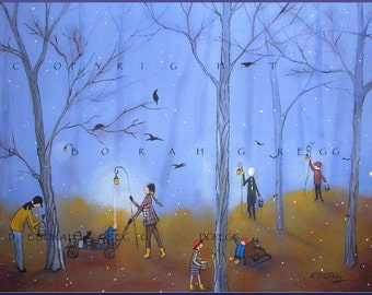 Maple Syrup Season Begins a Fog Maple Grove, Sugaring Print by Deborah Gregg