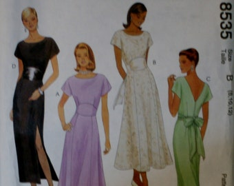 McCalls 8535 Misses Dress Sewing Pattern New/ Uncut Size 8-10-12