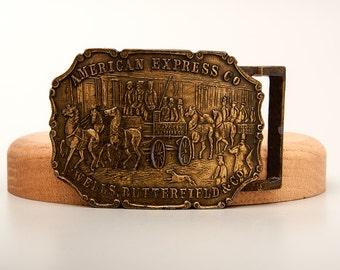 American Express Wells Butterfield & Co Belt Buckle Early Type