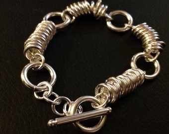 Silver Lazy Loop Chainmaille bracelet