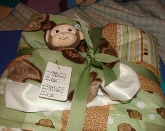 Baby Bundles~~~ Monkey Quilt and Huggie Blanket