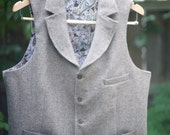 Custom Tweed Vest